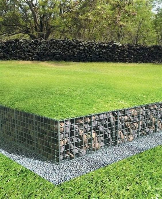 Gabion Baskets Used In Retaining Wall