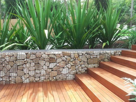 Gabion Basket Wall At Mannagum Building And Garden Supplies