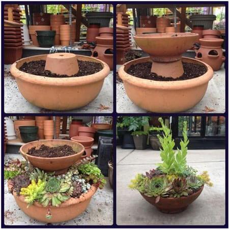 Create Two Level Garden Pots