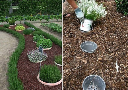 Buried Potted Garden