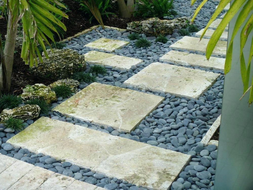 Side Of House Pebble Path