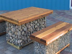 Gabion Basket For Outdoor Dining