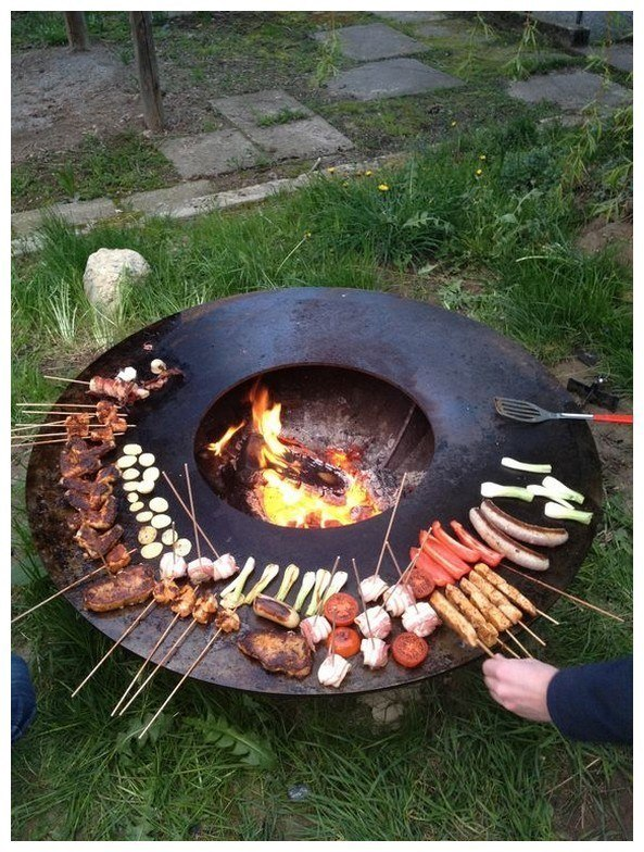 Circular Cooking Firepit Sloped
