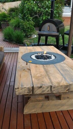 Sleeper Table With Firepit