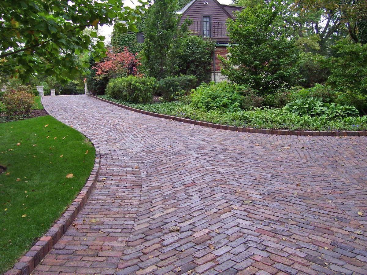 Reclaimed Brick Driveway