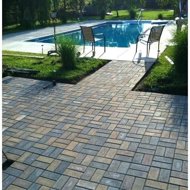 Double Basketweave Pattern Patio