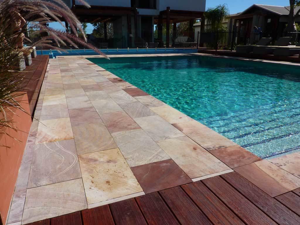 Sandstone Pavers Around Pool