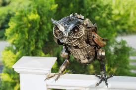 Full Metal Owl For Garden