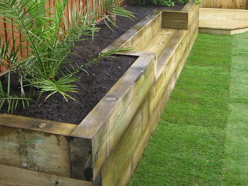 Planter Made From Sleepers