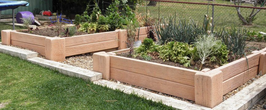 Vegetable Garden Made With Concrete Sleepers