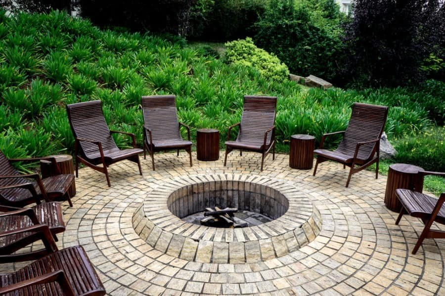 Pavers Firepit Round