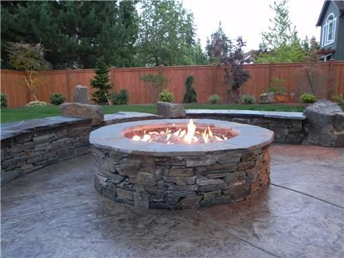 Gas Firepit With Stone