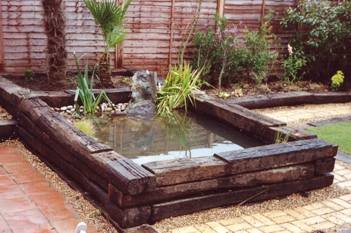 Sleepers Used For Pond