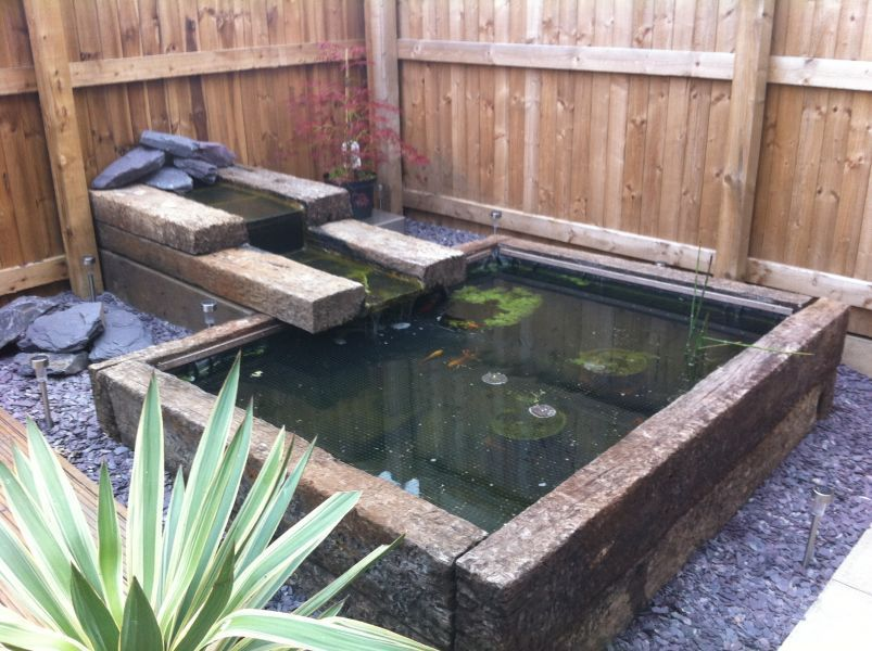 Pond Made From Sleepers