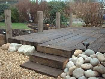 Deck Made From Sleepers