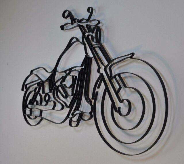 Steel Wall Art Motorbike