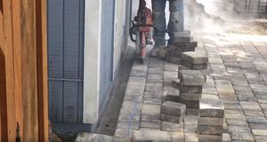 Using A Brick Cutter To Allow Boarder