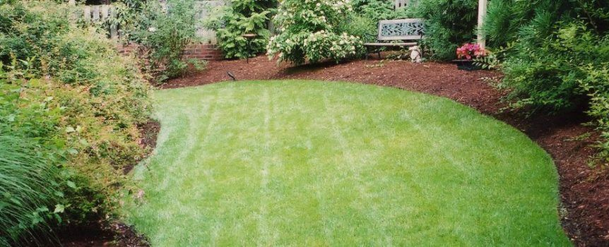 Using Mulch To Separate Grass From Garden