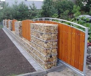 Using Gabion Baskets For A Strong Entrance