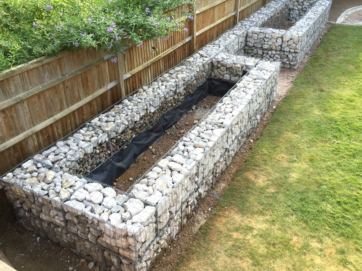 Gabion Baskets Used For Planters